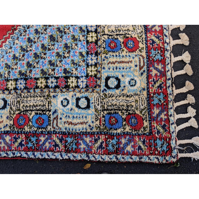 Vintage Persian Hand Knotted Wool Rug Aptdeco