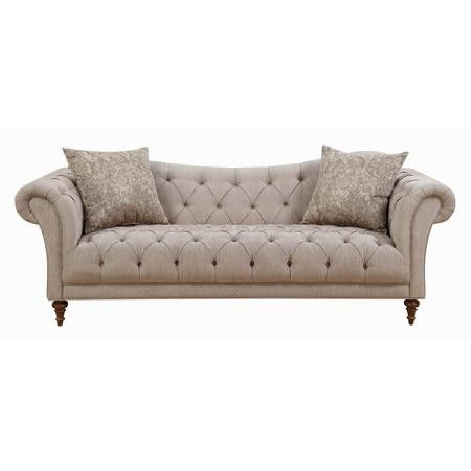 Light Brown Tufted Sofa