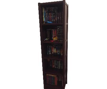 Narrow Mahogany Bookcase