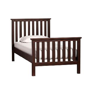 Pottery Barn PB Kids Elliott Twin Bed in Dark Wood