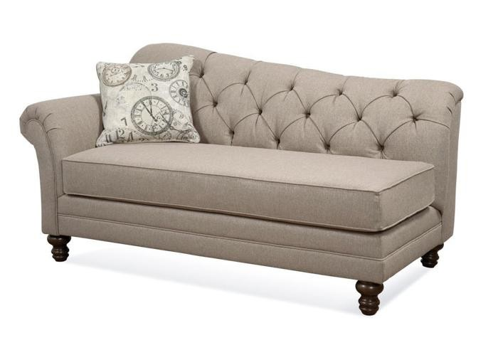 Coaster Stone Grey Chaise