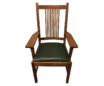 Stickley Sewing Rocker + Arm Chair & Footstool