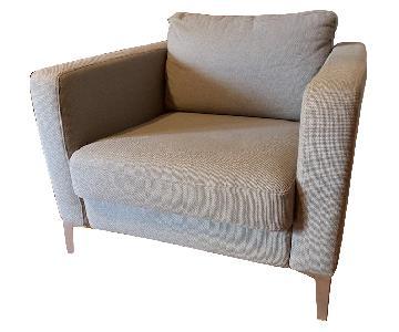Ikea Medium Gray Karlstad Chair