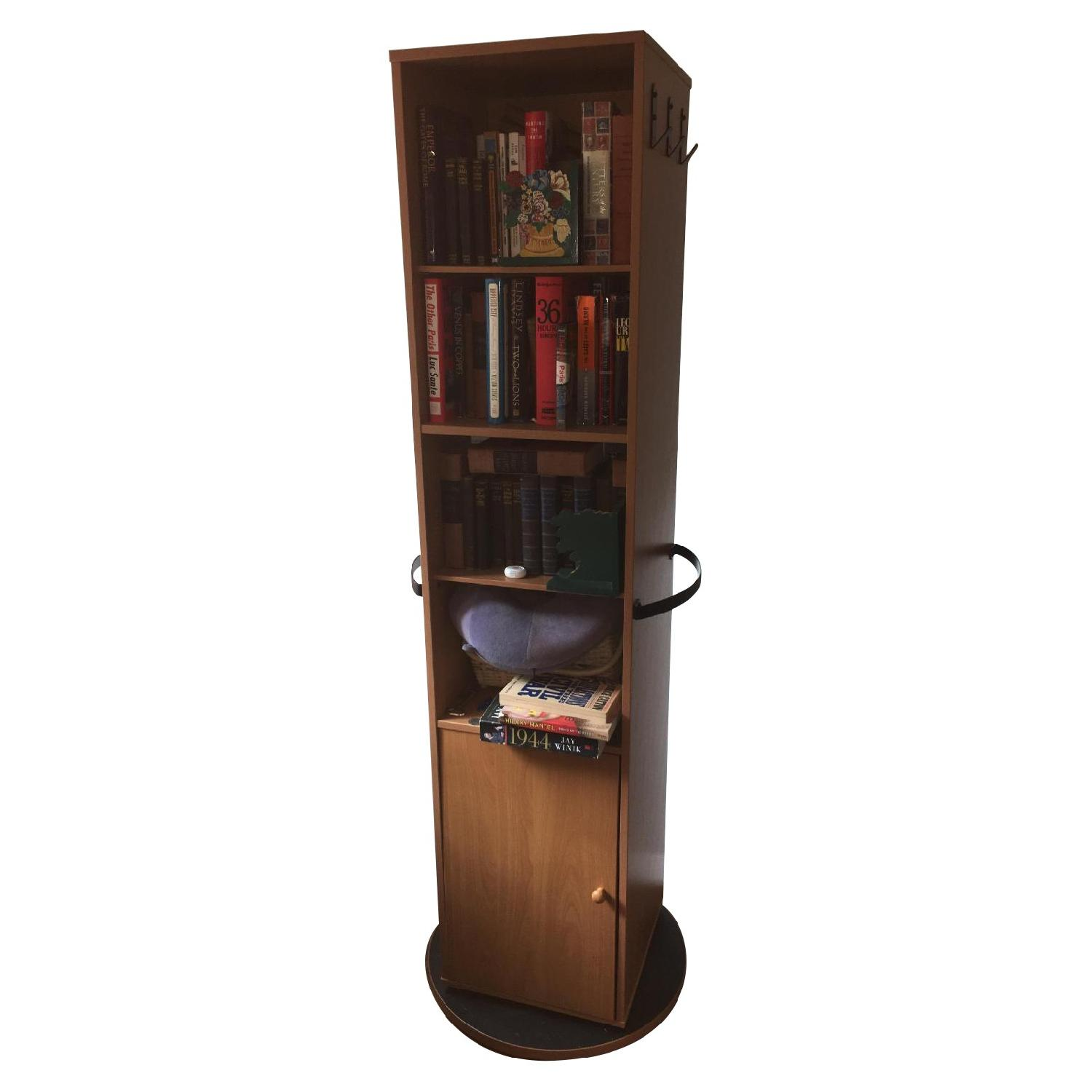 Tall Rotating Cabinet w/ Mirror & Hooks