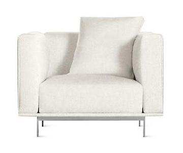 Design Within Reach Bilsby White Leather Armchair