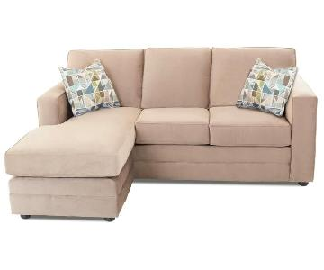 Jennifer Convertibles Sleeper Sectional w/ Reversible Chaise