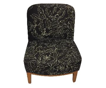 Floral Print Accent Chair