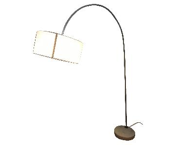 CB2 Dimmable Arching Floor Lamp w/ Concrete Base