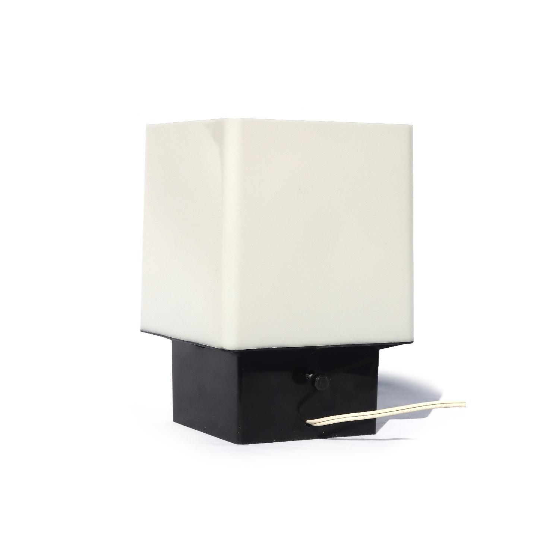1970s Black & White Lucite Table Lamp