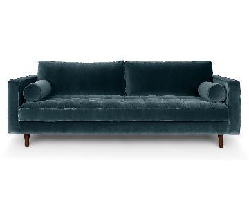Article Sven Mid-Century Modern Velvet Sofa
