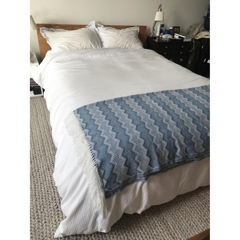 CB2 Dondra Teak Queen Bed-1