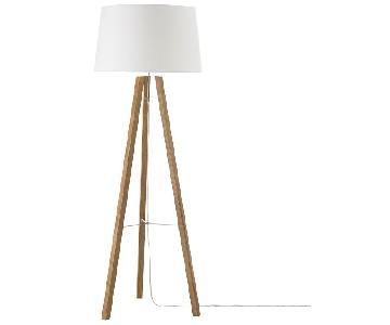 West Elm Wood Tripod Floor Lamp