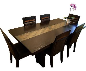 Wood Dining Table w/ 5 Chairs