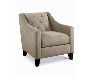 Macy's Chloe Velvet Tufted Armchair