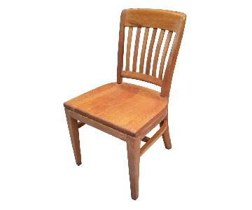 Vintage 1940s Gunlocke Oak Office Chair