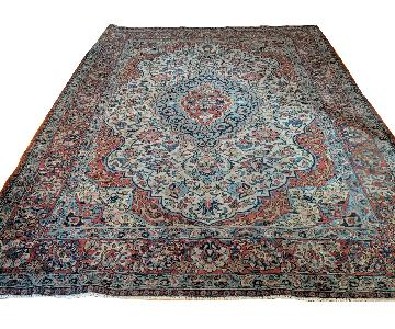 Antique Hand-Knotted Wool Persian Rug