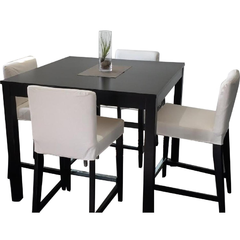 Ikea Bjursta Bar Height Table W 4 Henriksdal Stools Aptdeco