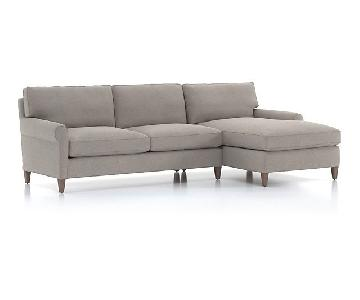 Crate & Barrel Montclair 2-Piece Sectional Sofa