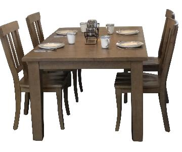 Jofran Distressed 5 Piece Expandable Farmhouse Dining Set