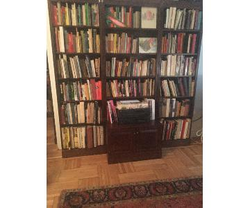 Curtis Mahogany Bookshelf Unit