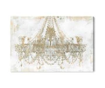 Oliver Gal Gold Diamonds Classic Art Wrapped Canvas Print