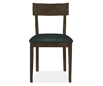Room & Board Wood & Leather Dining Chairs