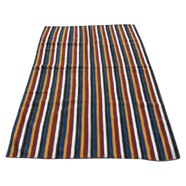 Vertical Stripes Multicolor Turkish Rug
