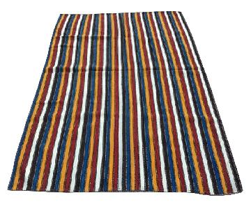 Vertical Stripes Multicolor Turkish Rug