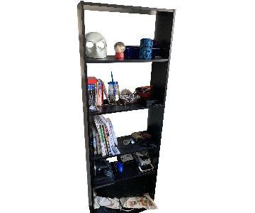 Ikea 5 Level Black Wooden Bookcase