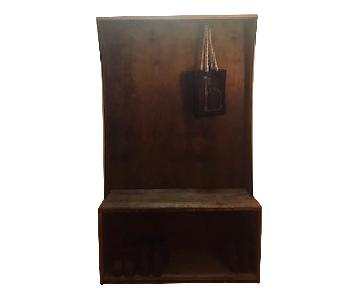 Bench w/ Coat Hooks & Shoe Storage