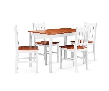 Costway 5-Piece Pine Wood Dining Set