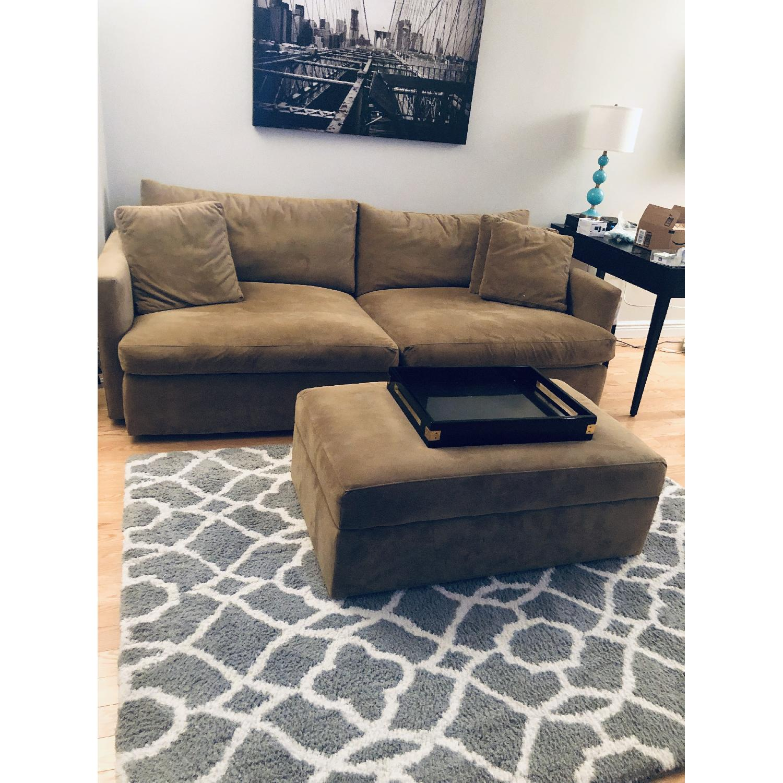 Crate & Barrel Lounge II Sofa & Storage Ottoman