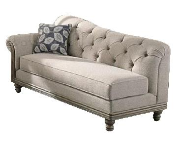Light Grey Classic Fabric Chaise