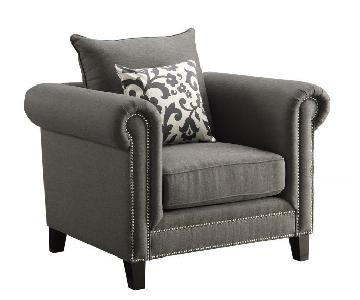 Charcoal Fabric Chair