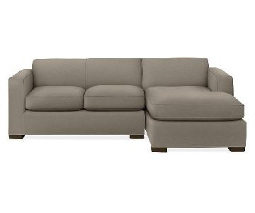 Room & Board Ian Sectional Sofa w/ Right Arm Chaise