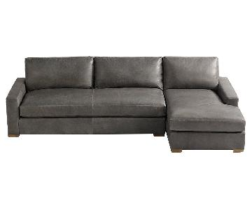 Restoration Hardware Maxwell Leather Sectional Sofa