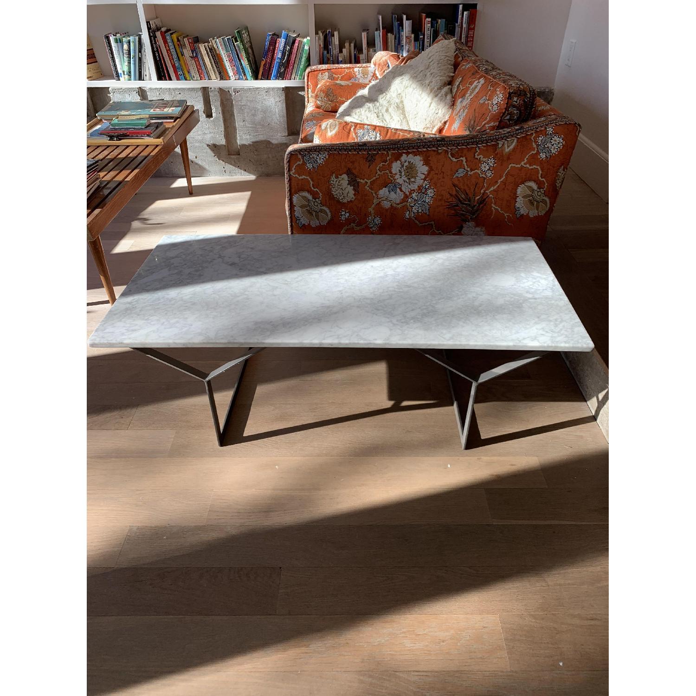 West Elm Marble Coffee Table-1