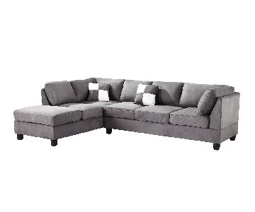 Glory Furniture Grey Sectional Sofa
