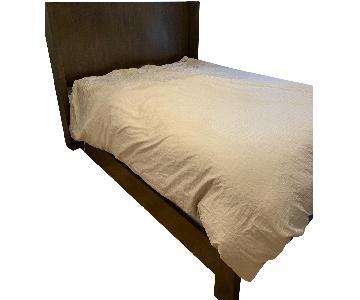 Restoration Hardware Walnut Queen Bed