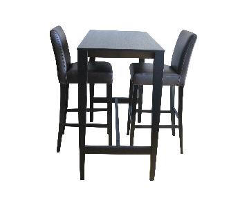 Crate & Barrel Triad Table w/ 2 Lowe Bar Chairs