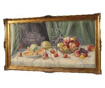 Italian Signed & Dated Still Life Painting