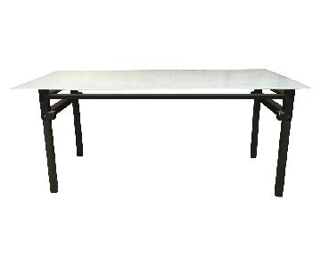 Room & Board Table w/ Translucent Tempered Top