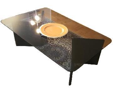 Scandinavian Designs Black & Glass Coffee Table