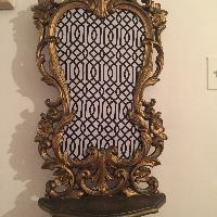 Geometric Baroque Gold Wall Shelf