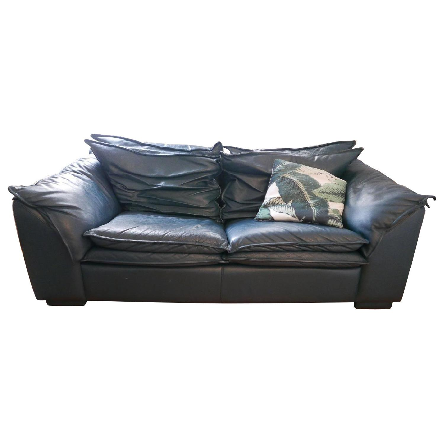 Modern Style Green Leather Sofa