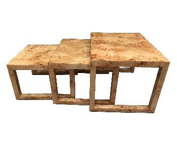 Homenature Mappa Burl Wood Nesting Tables