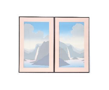 1980s Signed Pastel Landscape Serigraphs
