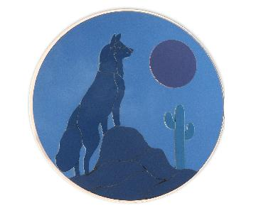Vintage Large Wolf Wall Mirror