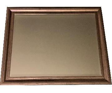 Wall Mirror w/ Silver Frame