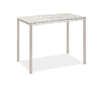 Room & Board Marble White Quartz Counter Height Dining Table